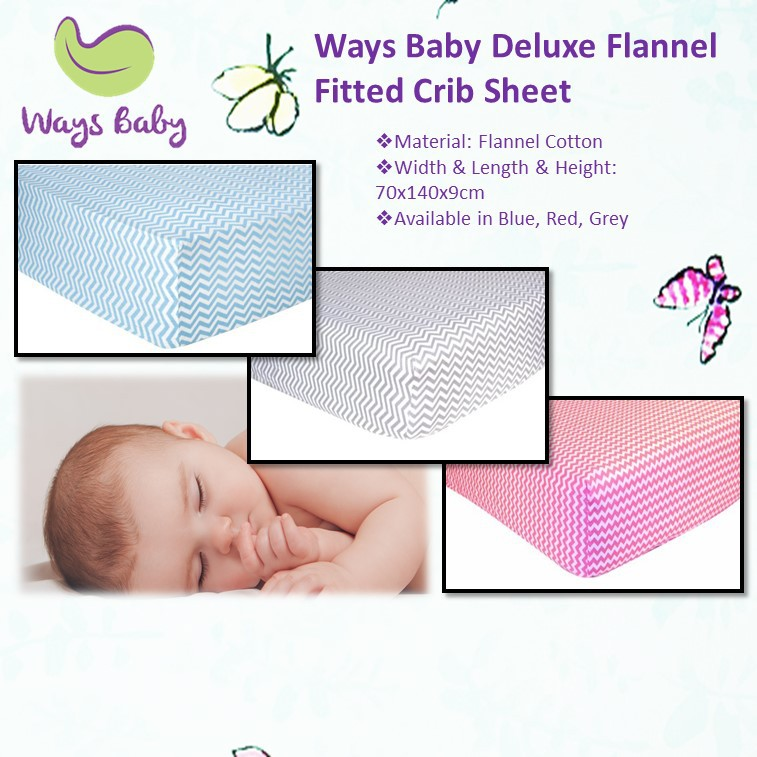 Ways Baby Deluxe Flannel Fitted Crib Sheet