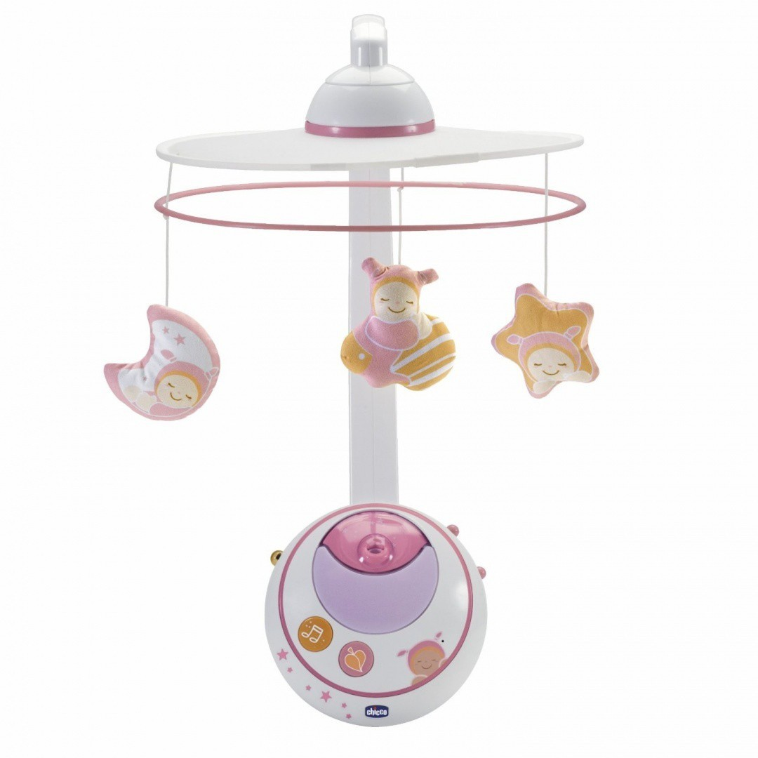 CHICCO Magic Star Cot Mobile - Pink