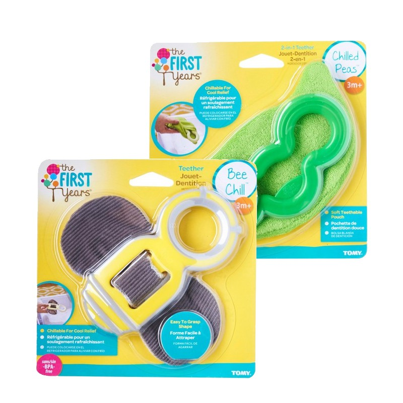 THE FIRST YEARS Chilled Peas 2-in-1 Teether + Bee