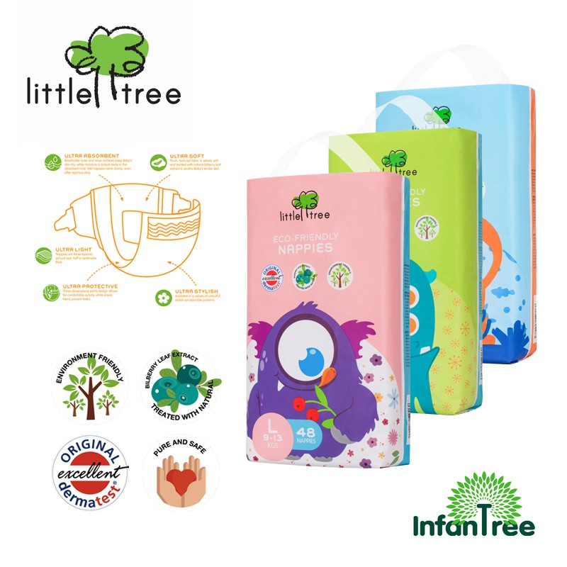 BUY 1 GET 1 FREE ! Little Tree Eco-Friendly Nappie