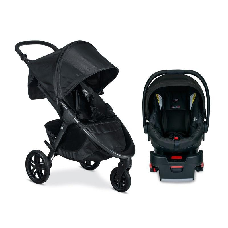 Britax B- Free Stroller Cool Flow Grey+ B-Safe 35