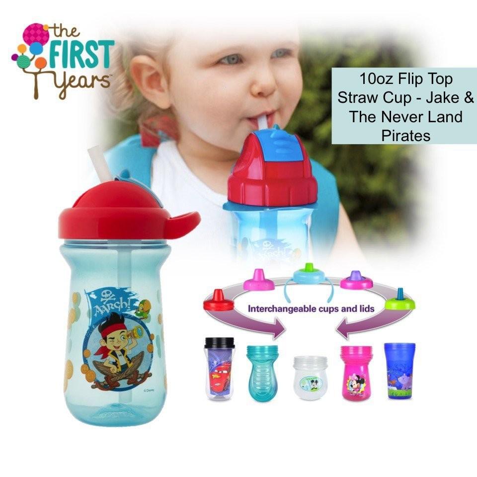 The First Years Disney Baby 10oz Flip Top Straw Cu