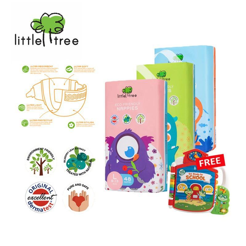 Little Tree Nappies / Diaper 1ctn/4packs (Differen