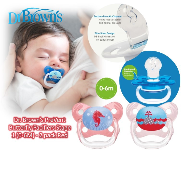 Dr. Brown's PreVent Butterfly Pacifiers Stage 1 (0