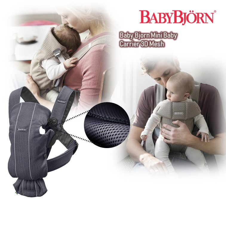 BabyBjorn Mini Baby Carrier 3D Mesh[Available in m