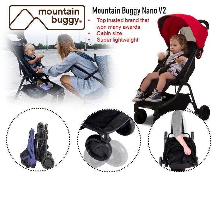 Mountain Buggy Nano V2 [Available in 3 colours]