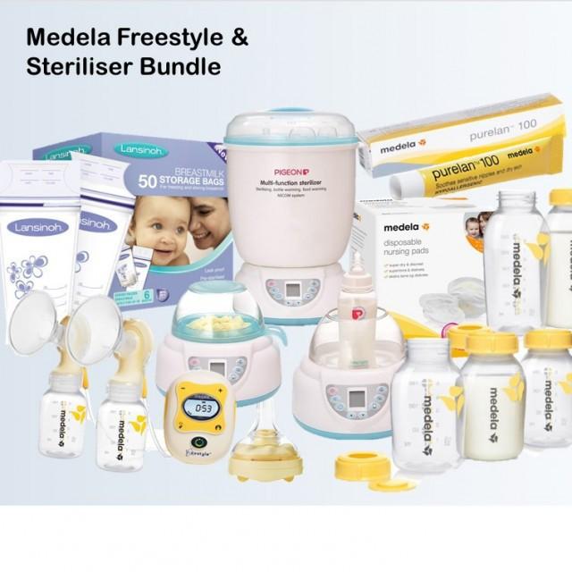 Medela Freestyle & Steriliser Bundle Worth $260.50