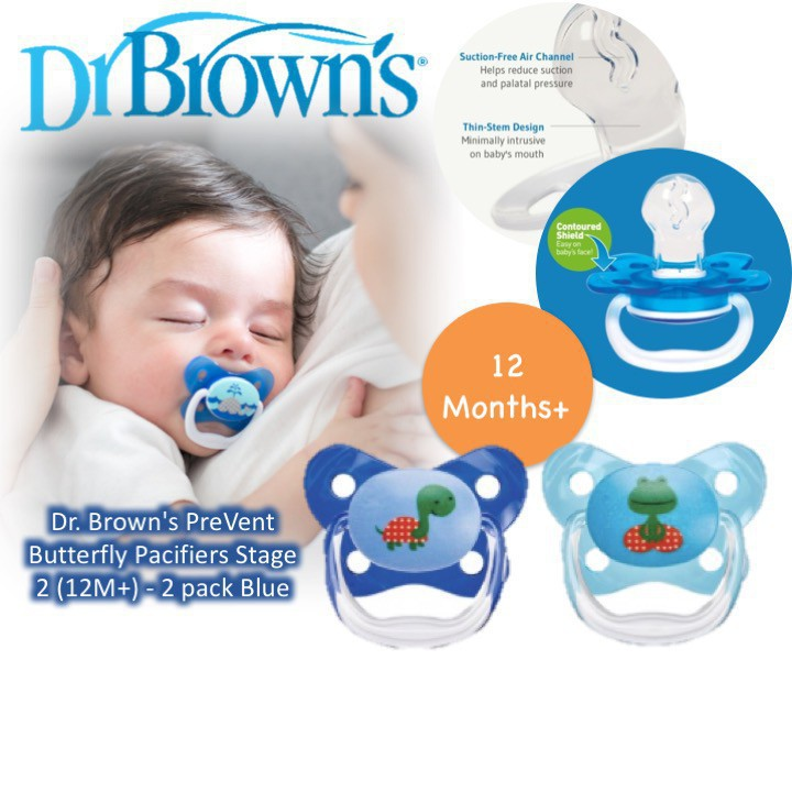 Dr. Brown's PreVent Butterfly Pacifiers Stage 3 (1