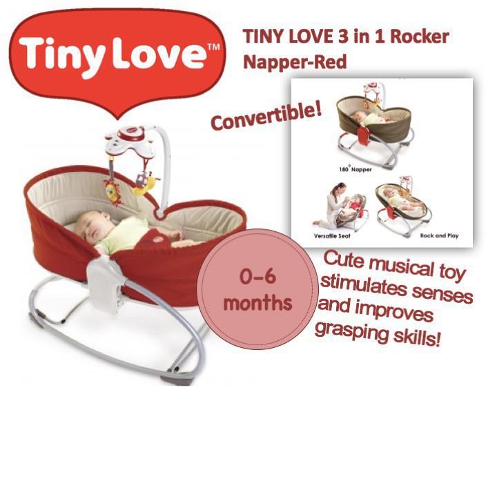 Tiny Love 3 in 1 Rocker Napper - Red