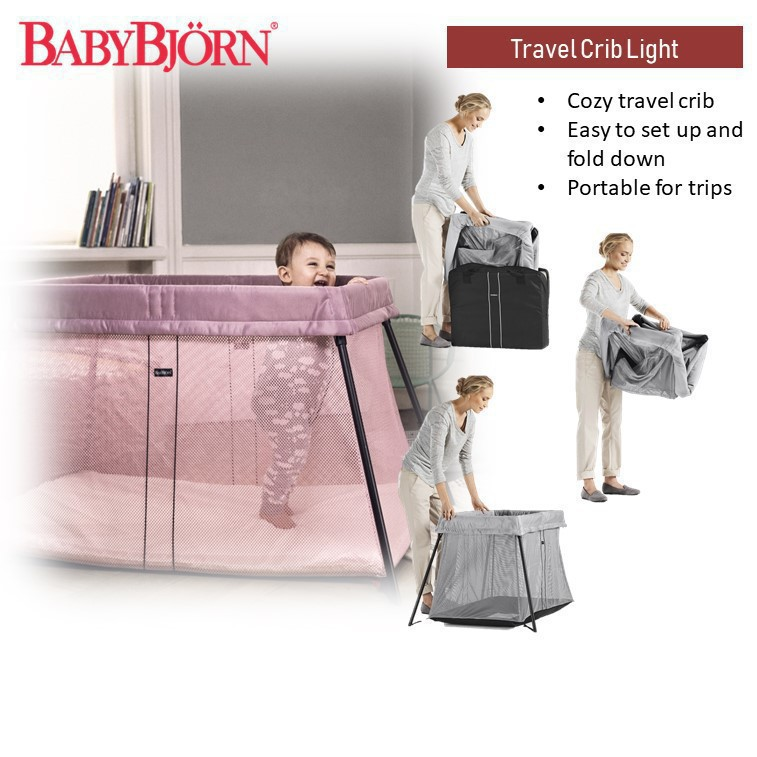 Baby Bjorn Travel Crib Light (Available in two col