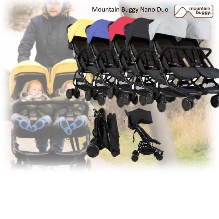 Mountain Buggy Nano Duo (Available in 5 Colours!)