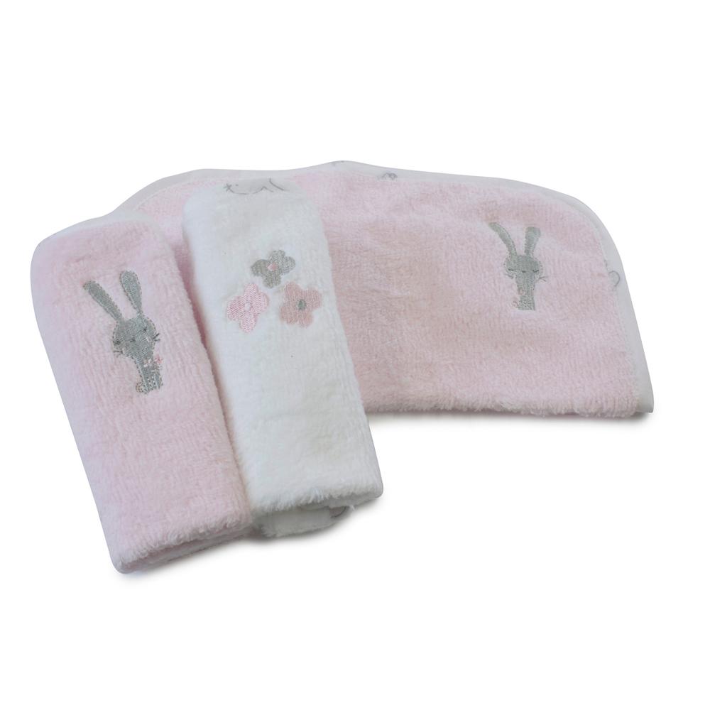 Bubba Blue Bunny Hop 3PK Face Washers