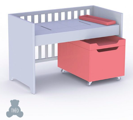 THEO LOU Baby Cot Set (Lune Colour) includes Drawe