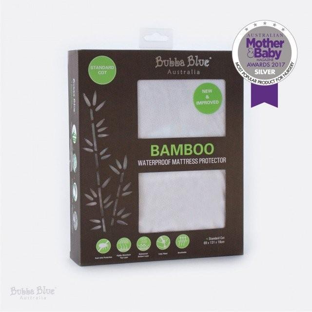 Bubba Blue Bamboo Standard Cot Mattress Protector