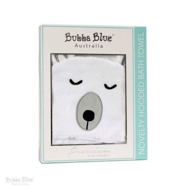 Bubba Blue Polar Bear Novelty Hooded Bath Towel