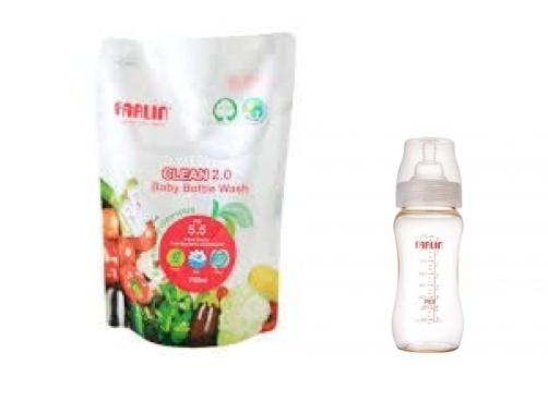 Farlin Clean 2.0 Bottle Wash (700 ml) + 1 Refill (