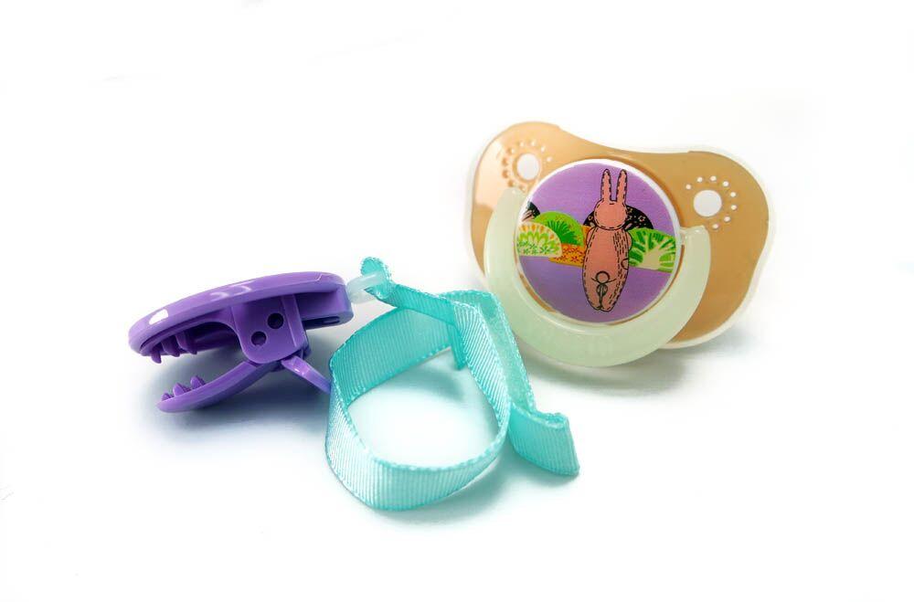 Chu Chu Pacifier & Chain Set - Orthodontic (Orange