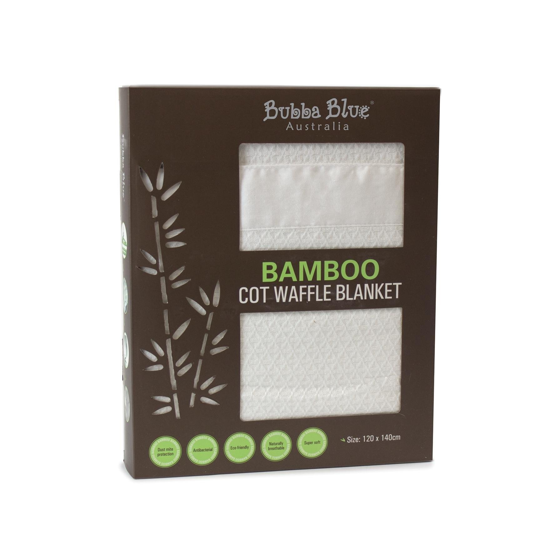 Bubba Blue Bamboo Cot Waffle Blanket