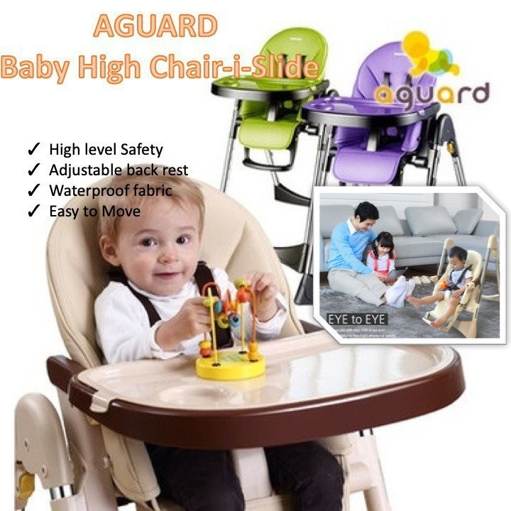 (NEW LAUNCH) Aguard i-Slide Baby High Chair (3 Col
