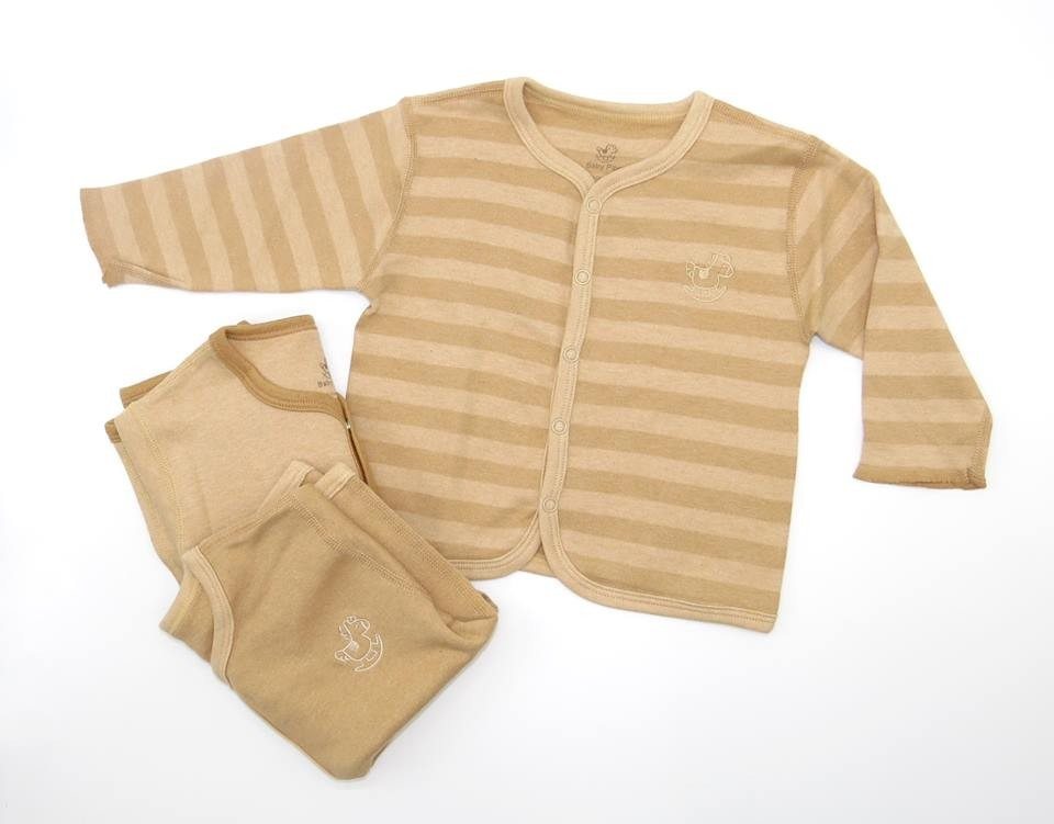 Baby Piper Organic Unisex Long Sleeve Mid Buttons