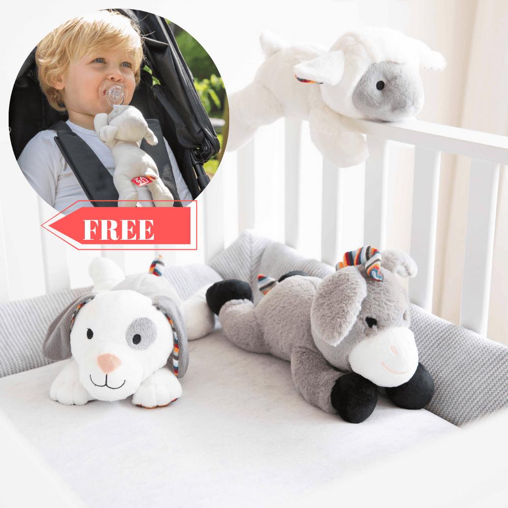 Zazu Heartbeat Soft Toy Comfortor + Pacifier Soft