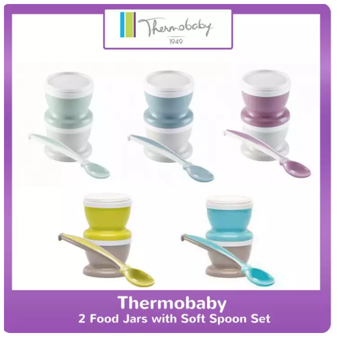 Thermobaby 2 Food Jars with Soft Spoon