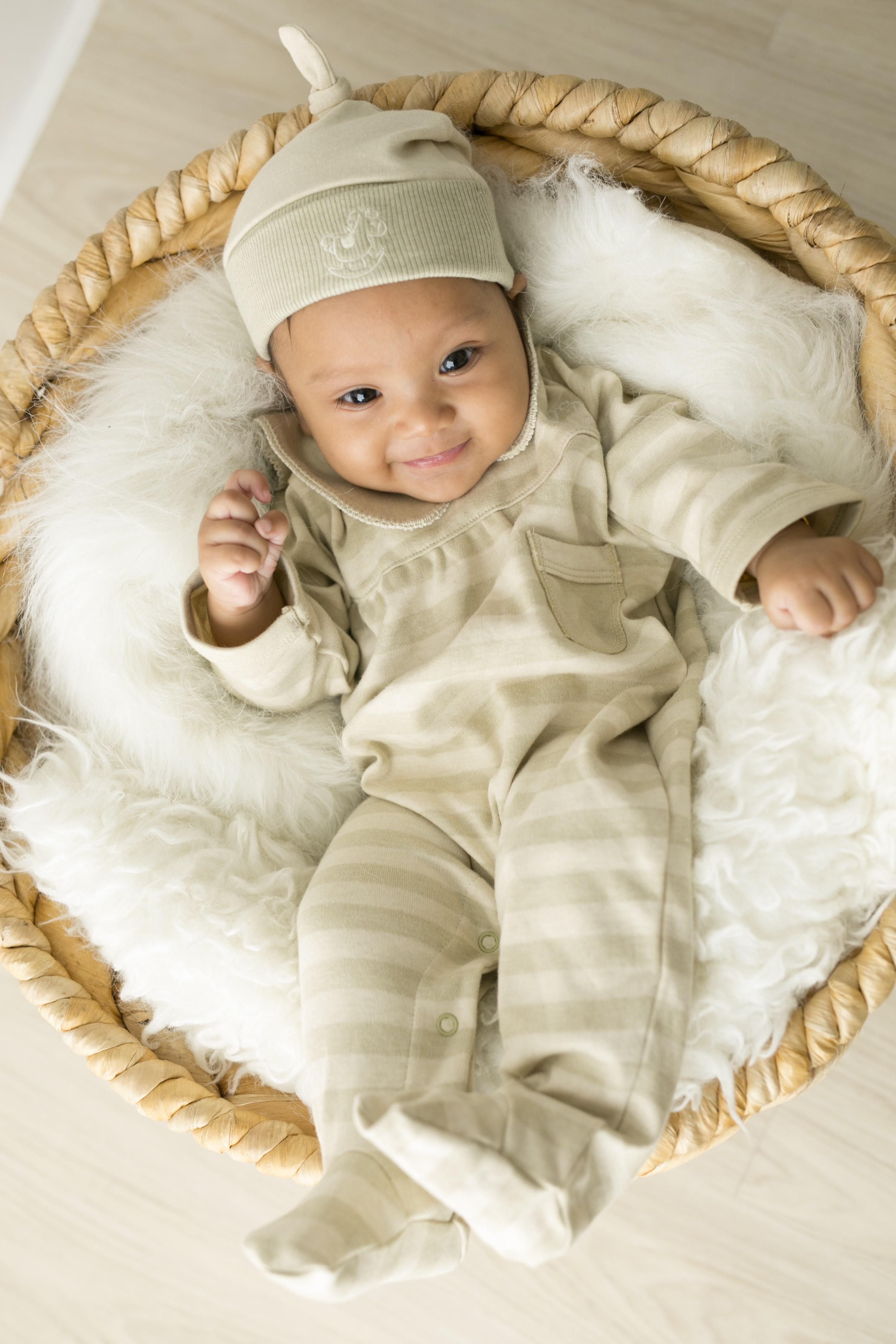 Baby Piper Organic Unisex Collar Mid Sleeve Romper