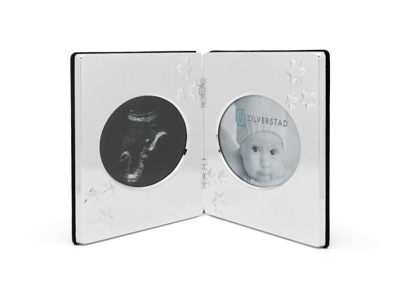 Zilverstad Sonogram Frame, Stars with Double