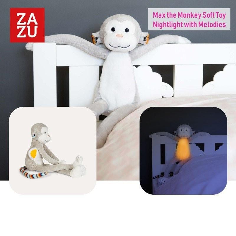 Zazu Max the Monkey Soft Toy Nightlight with Melod