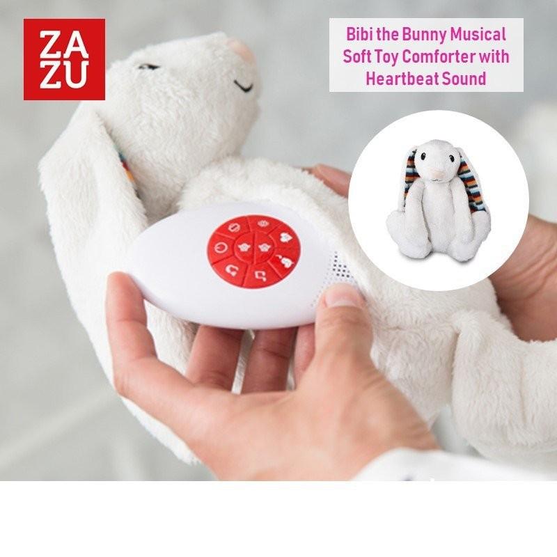 Zazu Bibi the Bunny Musical Soft Toy Comforter wit