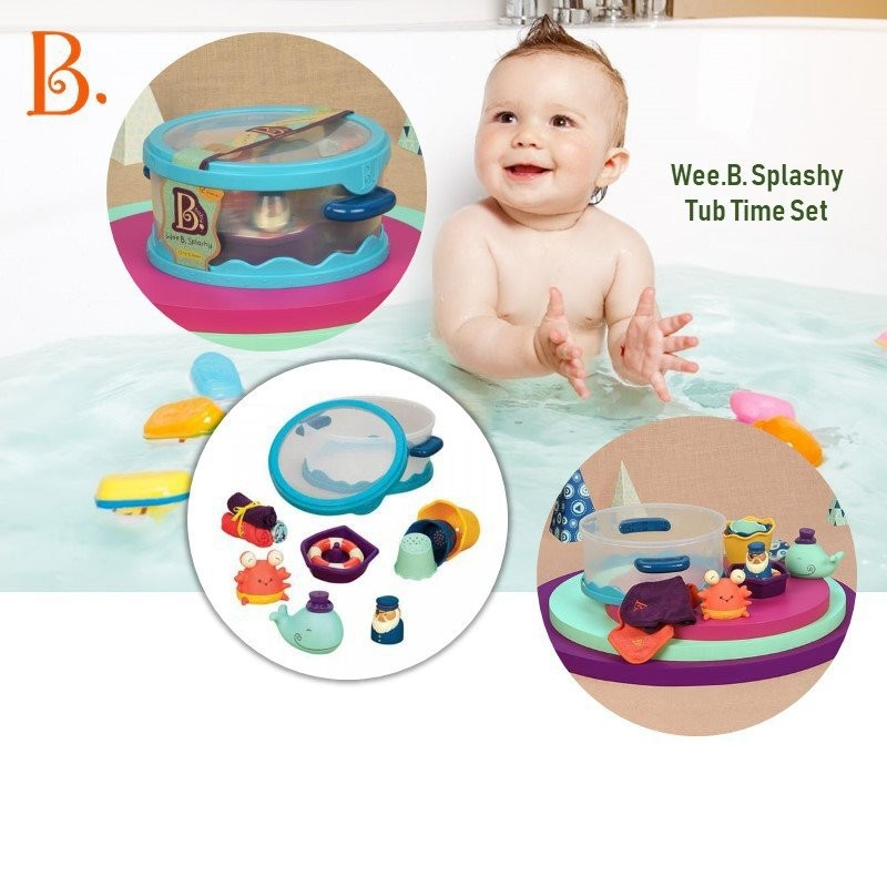 B.Toys Wee.B. Splashy Tub Time Newborn Baby Gift S