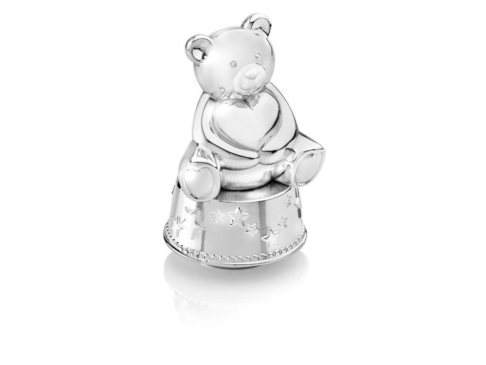 Zilverstad Money Box / Music Box, Bear with Heart