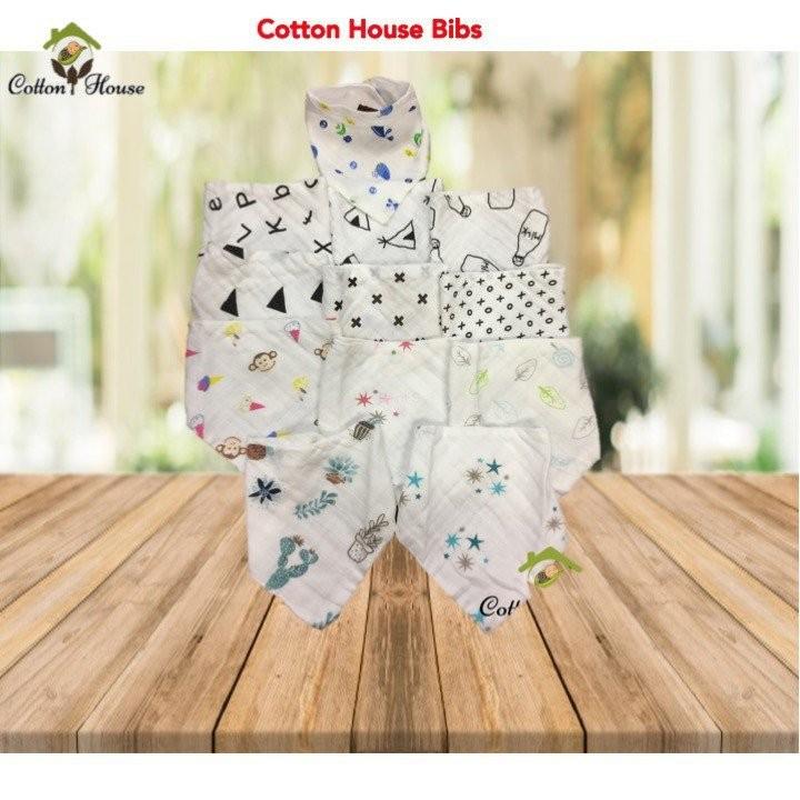 Cotton House Muslin Cotton Bibs (Pre-packed Bundle