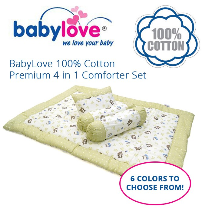 Babylove 100% Cotton Premium 4 in 1 Comforter Set