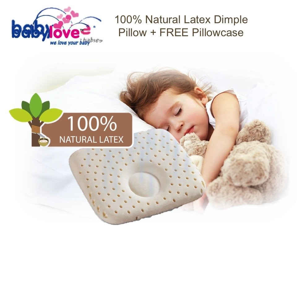 BabyLove 100% Natural Latex Dimple Pillow + FREE P