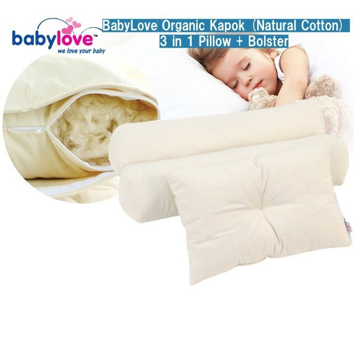 BabyLove Organic Kapok (Natural Cotton) 3 in 1 Pil