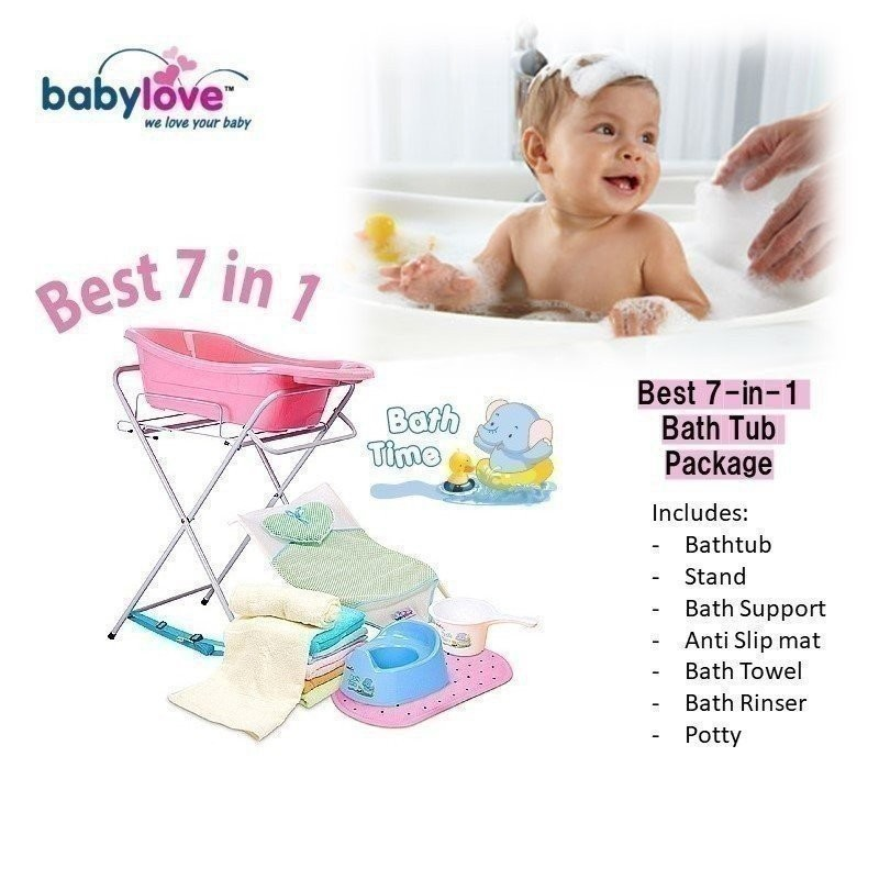 BEST 7-IN-1 BATH TUB COMBO + STAND + MORE