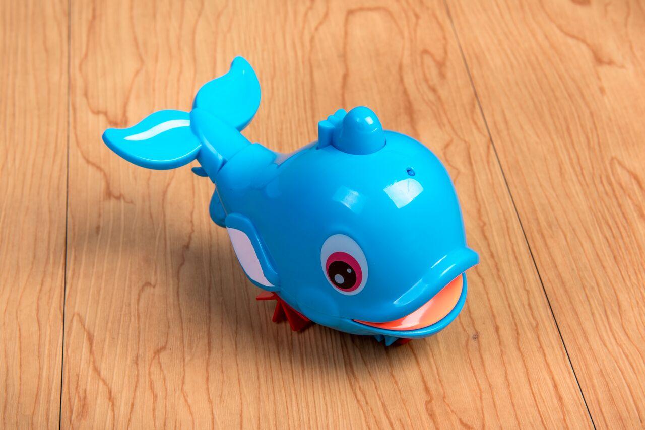 BabyLove Pull-line Dolphin Bath Toy + Spray Fun