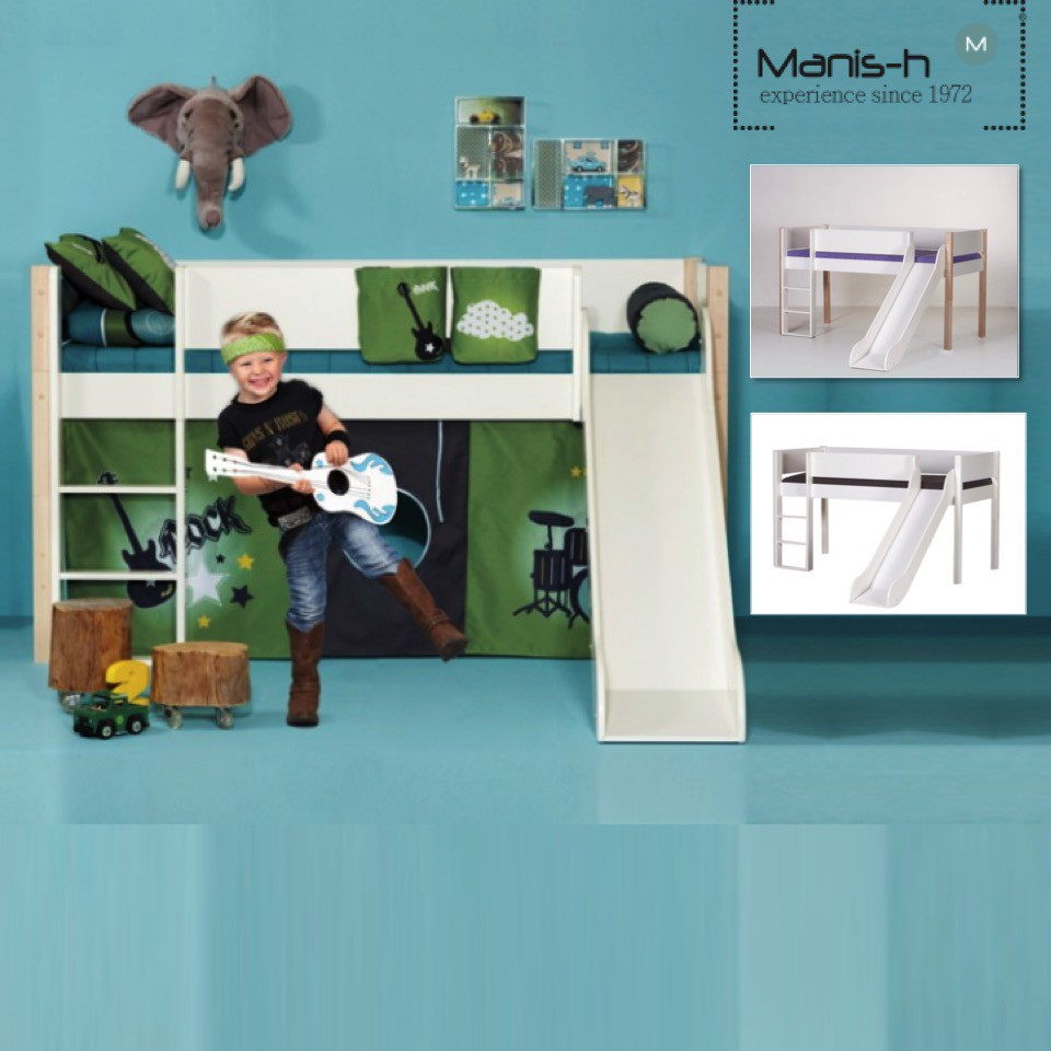 Manis-h Loft Bed with Slide - LOKE (Two Sizes)
