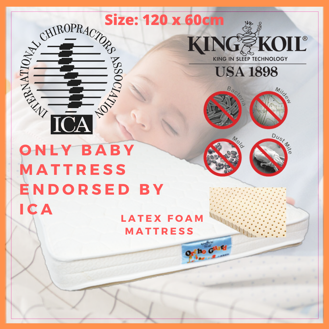 King Koil Baby Orthoguard 3 Mattress 120x60cm (Ant