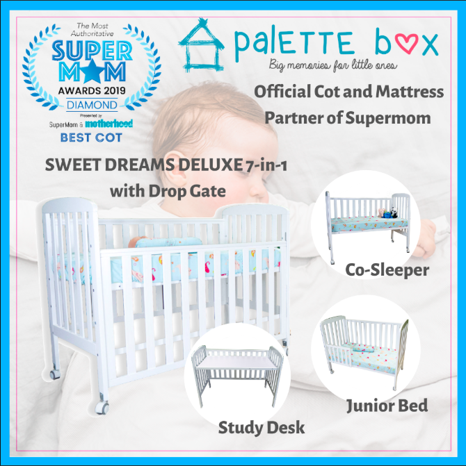 Sweet Dreams DELUXE 7-in-1 Convertible Cot with Dr