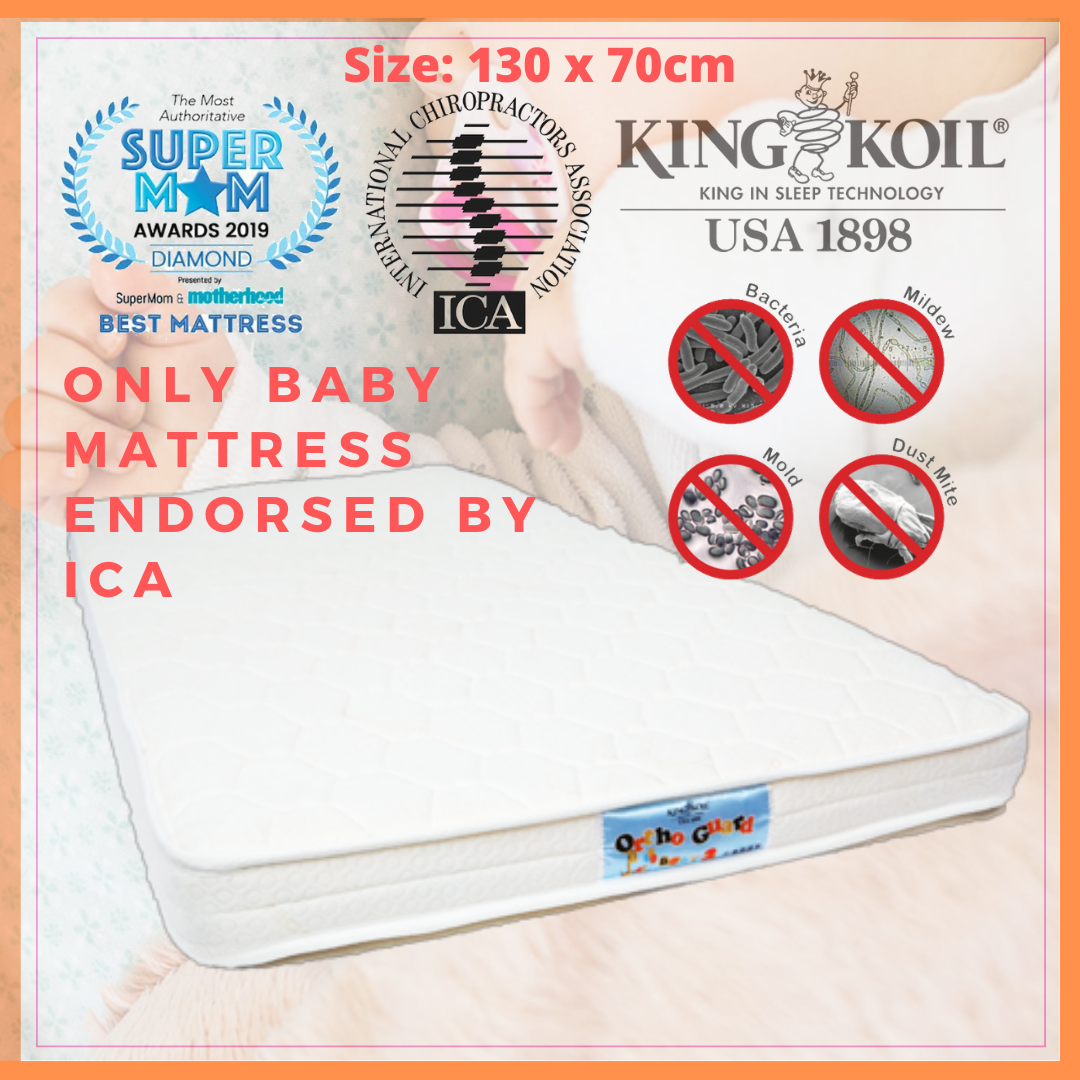 King Koil Baby Orthoguard 2 Mattress 130x70cm (Ant