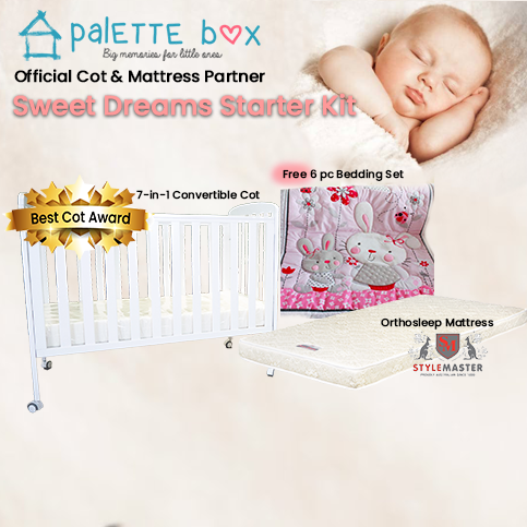Sweet Dreams (7-in-1) Cot + Stylemaster Orthosleep