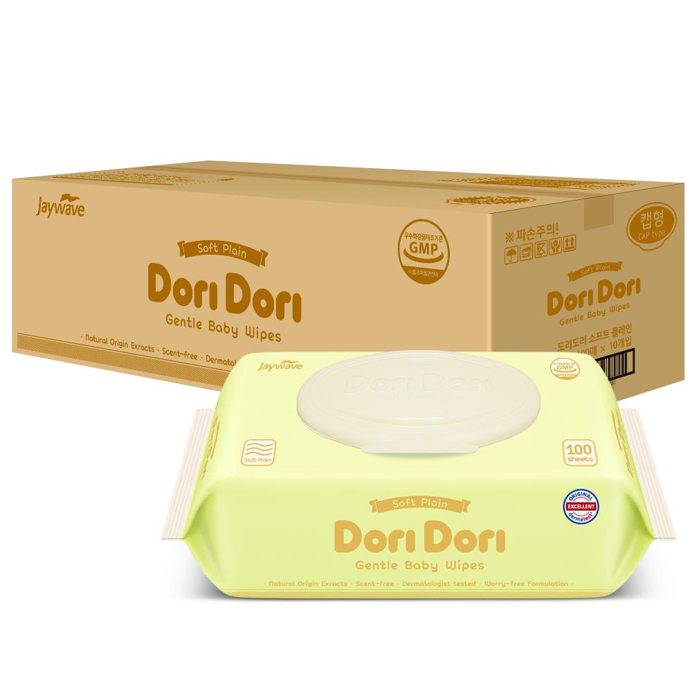 Dori Dori Soft Plain Baby Wet Wipes with CAP 100 S