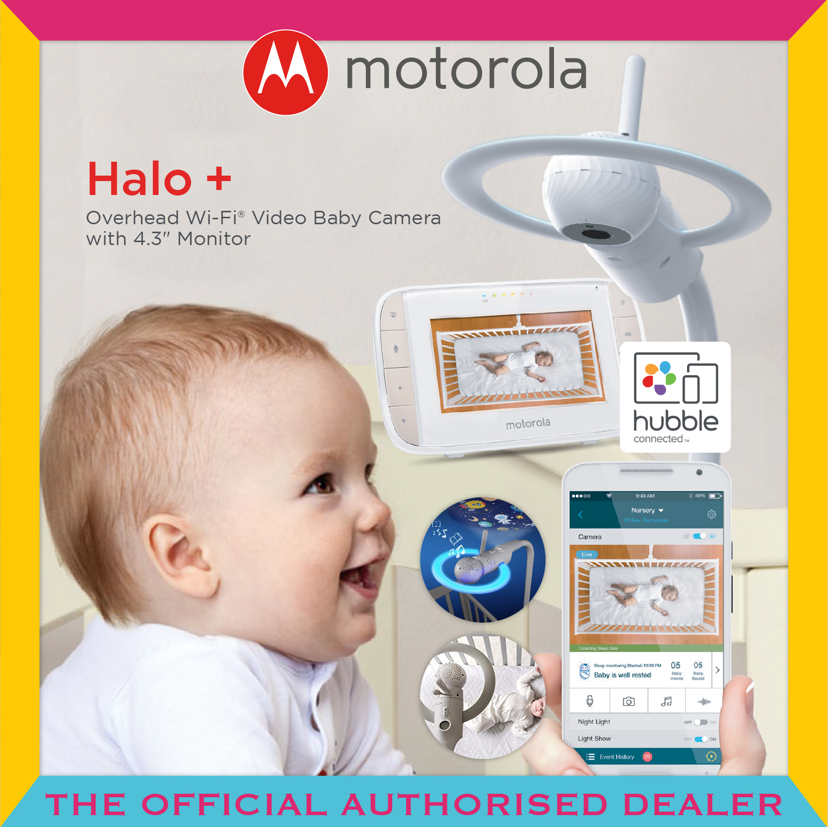 Motorola® Halo+ Over The Crib Baby Monitor & Slee