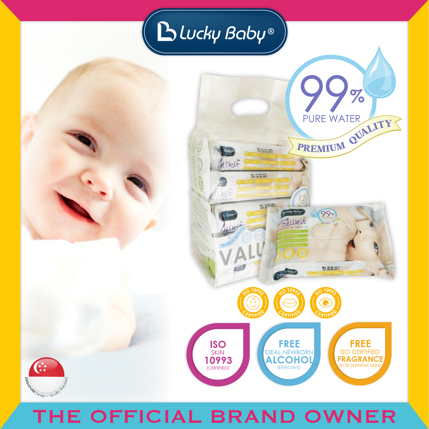 Lucky Baby® Ultra Delikit™ Natural Wipes for To