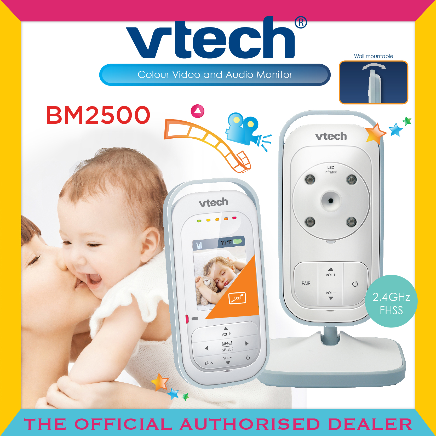 Vtech® BM2500 Audio & Video Baby Monitor