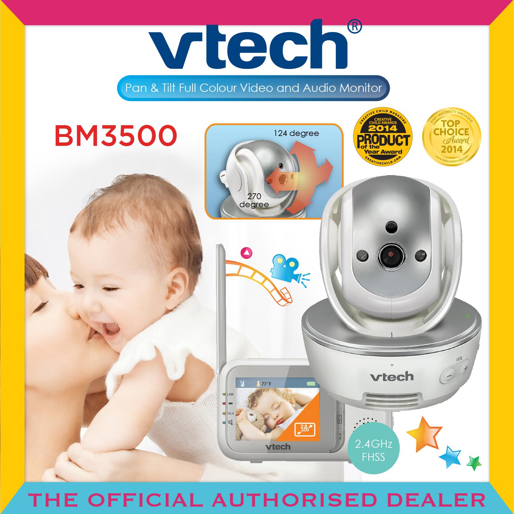 VTech BM4500 Safe /& Sound Full Colour Pan /& Tilt Video and Audio Baby Monitor Fr