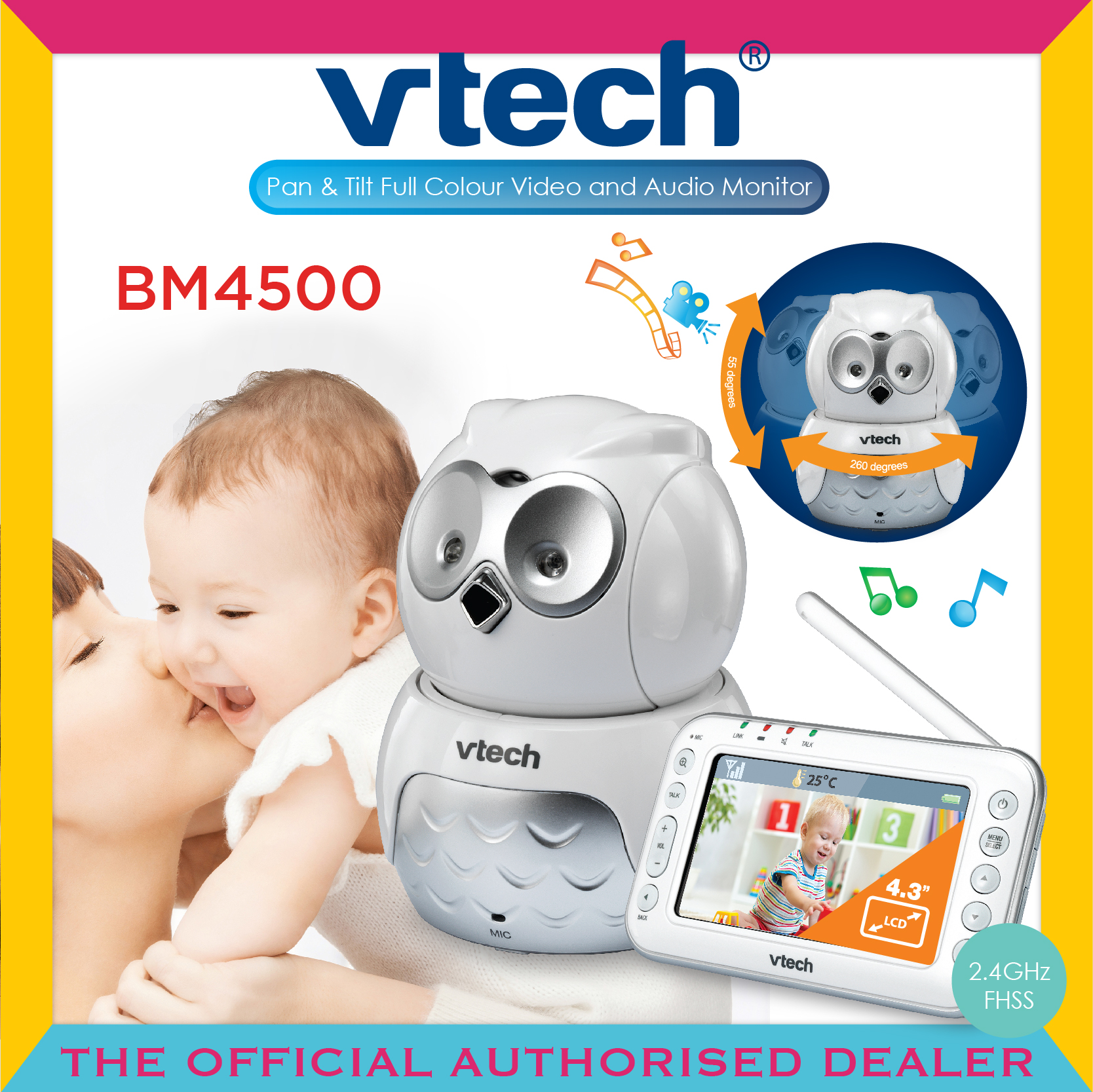Vtech® BM4500 Audio & Video Baby Monitor - Owl