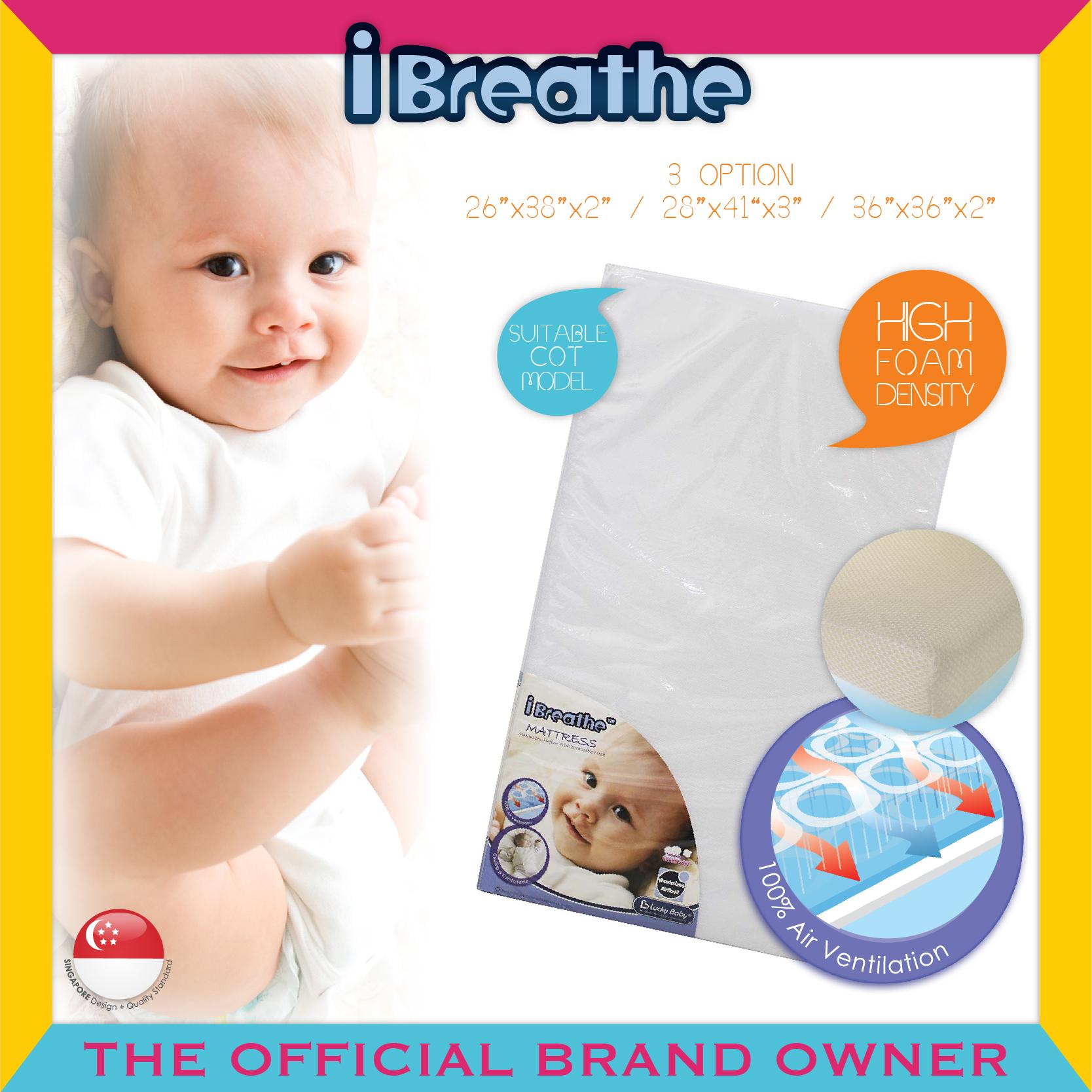 "I-Breathe® Playpen Mattress 26""x38""x2"" (66.5X96.5"